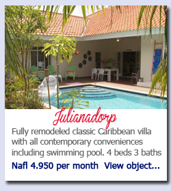 Julianadorp Curacao - Fully remodeled classic Caribbean villa with all contemporary conveniences including swimming pool. 4 beds 3 baths Nafl 4.950 per month  View object...