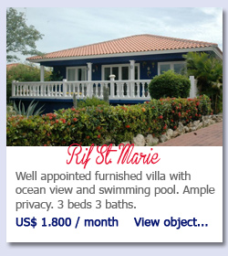 Rif St Marie Curacao - Well appointed furnished villa with ocean view and swimming pool. Ample privacy. 3 beds 3 baths.