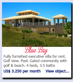 Blue Bay - Fully furnished executive villa for rent.   Golf view. Pool. Gated community with golf & beach. 4 beds, 3.5 baths US$ 3.250 per month    View object...