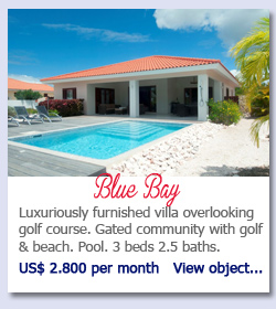 Blue Bay - Luxuriously furnished villa overlooking golf course. Gated community with golf & beach. Pool. 3 beds 2.5 baths. US$ 2.800 per month   View object...