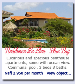 Blue Bay Curacao - Luxurious and spacious penthouse apartments, some with ocean view. Communal pool. 3 beds 3 baths. Nafl 2.950 per month   View object...
