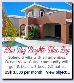 Blue Bay Heights - Blue Bay - Splendid villa with all amenities. Ocean View. Gated community with golf & beach. 3 beds 2.5 baths. US$ 3.500 per month   View object...