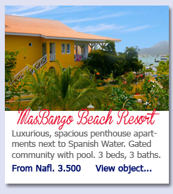 MasBango Beach Resort - Luxurious, spacious penthouse apartments next to Spanish Water. Gated community with pool. 3 beds, 3 baths. From Nafl. 3.500.