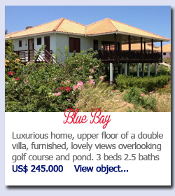 Blue Bay Curacao - Luxurious home, upper floor of a double villa, furnished, lovely views overlooking golf course and pond. 3 beds 2.5 baths  Nafl 436.100     View object...