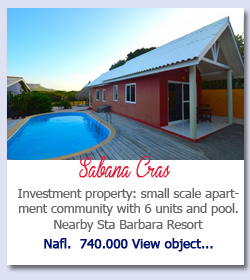 Sabana Cras Curacao - Investment property: small scale apartment community with 6 units and pool. Nearby Sta Barbara Resort