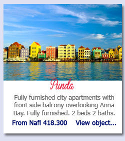 Punda Curacao - Fully furnished city apartments with front side balcony overlooking Anna Bay. Fully furnished. 2 beds 2 baths.  From Nafl 418.300    View object...