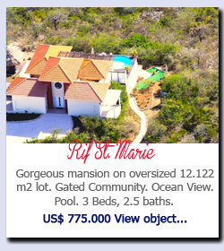Rif St. Marie - Gorgeous mansion on oversized 12.122 m2 lot. Gated Community. Ocean View. Pool. 3 Beds, 2.5 baths. US$ 775.000 View object...