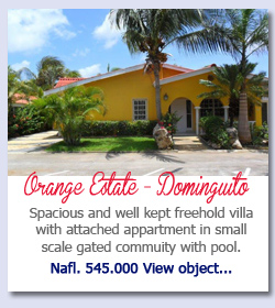 Orange Estate Dominquito Curacao - Spacious and well kept freehold villa with attached appartment in small scale gated commuity with pool.