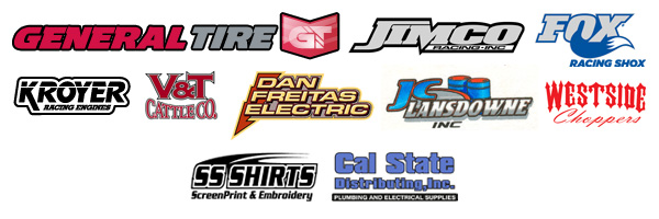 Freitas Off Road Motorsports Sponsors, General Tire, Jimco Race Cars, Fox Racing Shox, Kroyer Racing Engines