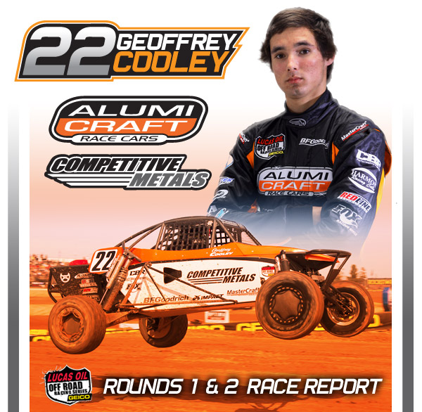 Geoffrey Cooley, Alumi Craft Race Cars, Competitive Metals, Lucas Oil Off Road