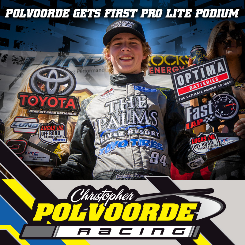 Christopher Polvoorde Gets First Pro Lite Podium In LOORRS Round 5