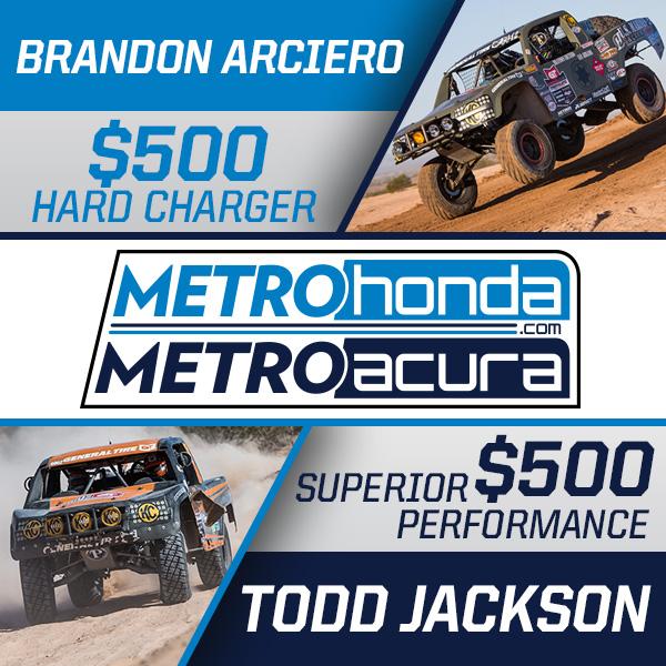 Metro Honda, Metro Acura Award, Todd Jackson, Brandon Arciero