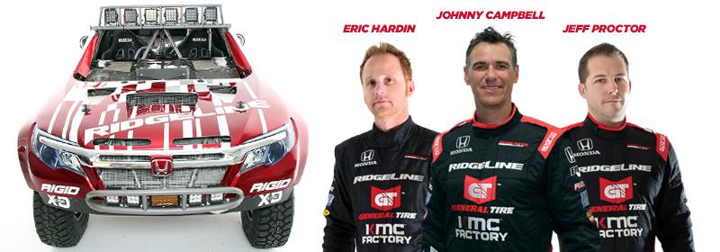 Honda Off-Road, Eric Hardin, Johnny Campbell, Jeff Proctor, Honda Ridgeline, Baja 1000