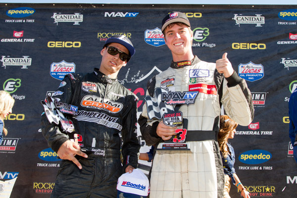 Geoffrey Cooley, Dave Mason Jr., LOORRS Podium