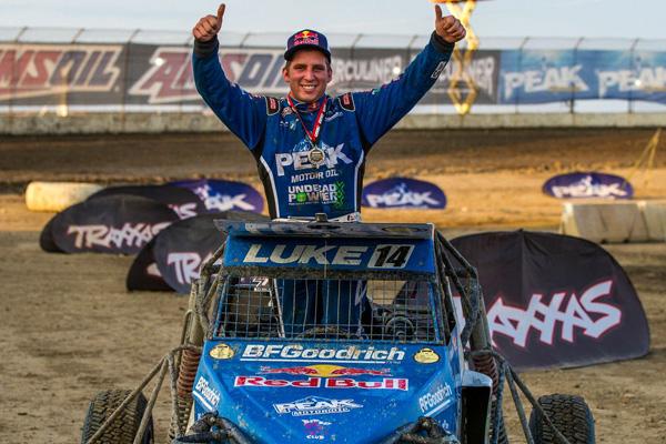 Luke Johnson Winning, Red Bull, BFGoodrich Tires, Peak Motor Oil, Undead Power, Alumi Craft