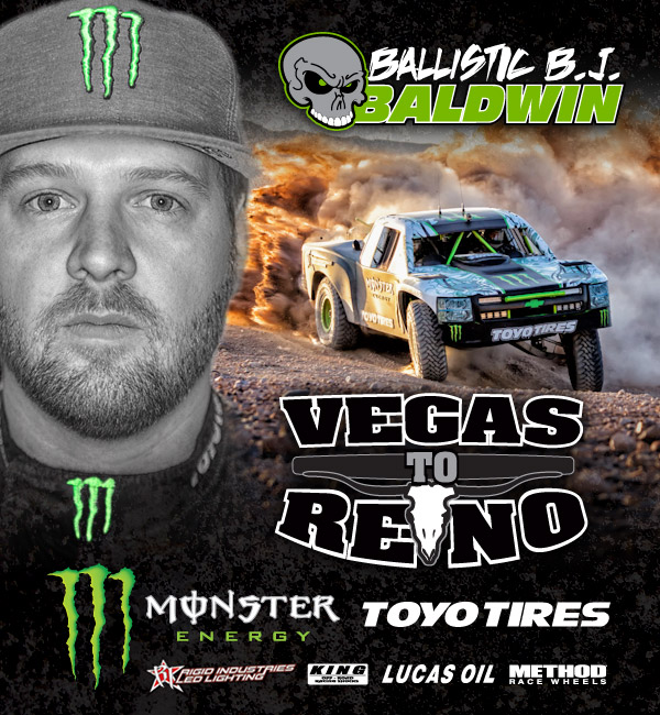 BJ Baldwin, Monster Energy, Toyo Tires, 2012 BITD Vegas To Reno, V2R