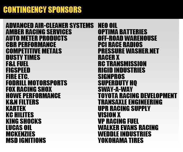 HDRA Contingency Sponsors