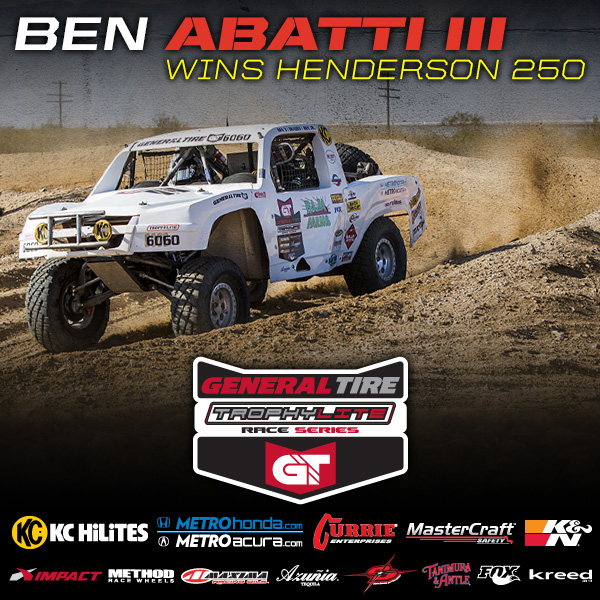 Trophylite Racer Ben Abatti III Wins Henderson 250
