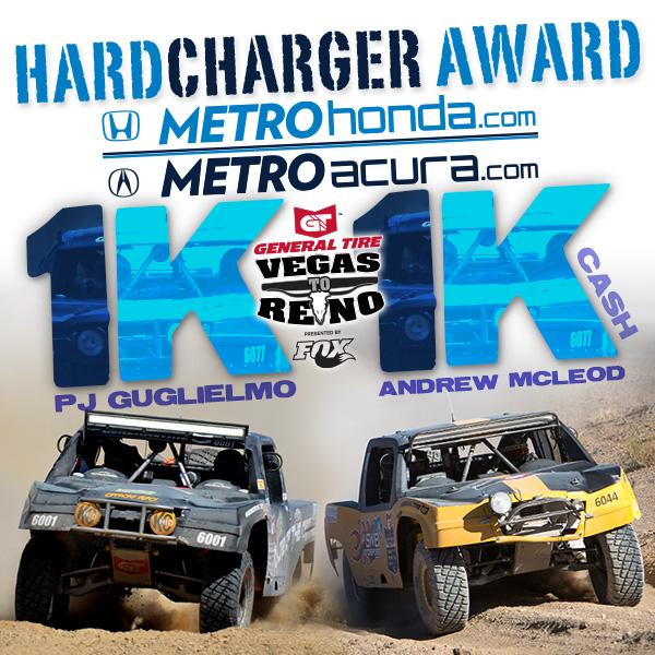 Metro Honda, Metro Acura Hard Charger Award, Vegas To Reno, PJ Guglielmo, Andrew McLeod