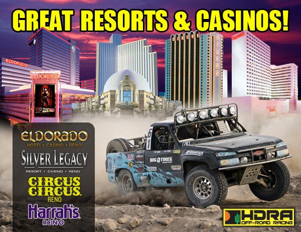 Eldorado Resort, Silver Legacy Resort, Circus Circus Reno, Harrah's Reno