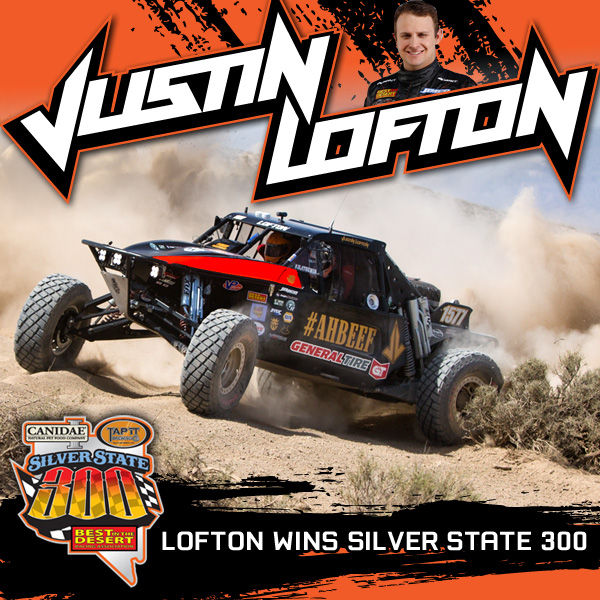 Justin Lofton Wins Silver State 300, Best In The Desert, General Tire, Lofton Racing, Bink Designs