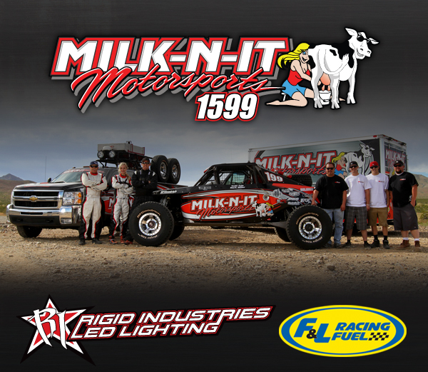 Milk-N-It Motorsports, F&L Racing Fuel, Rigid Industries