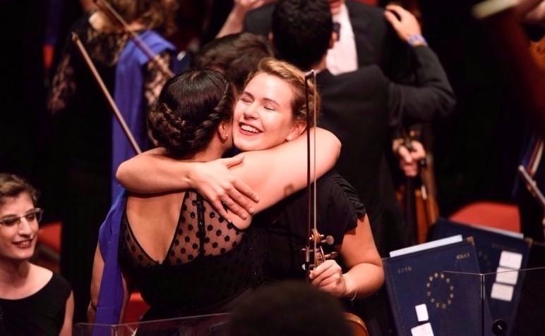 Amsterdam post concert hug August 2016