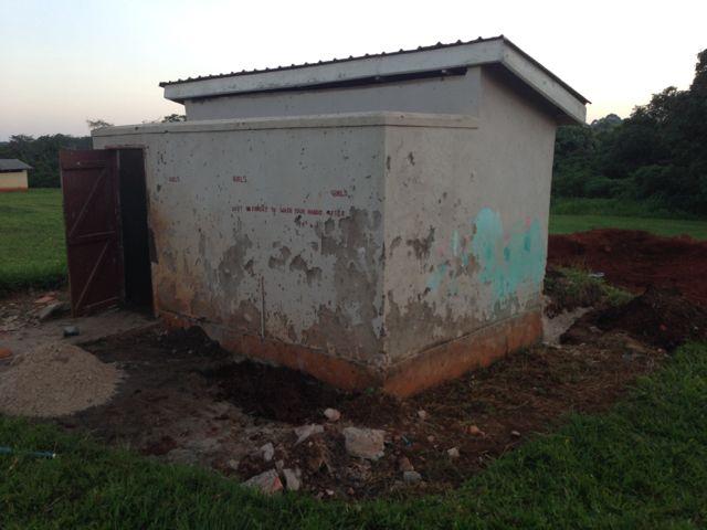 School latrine under repair