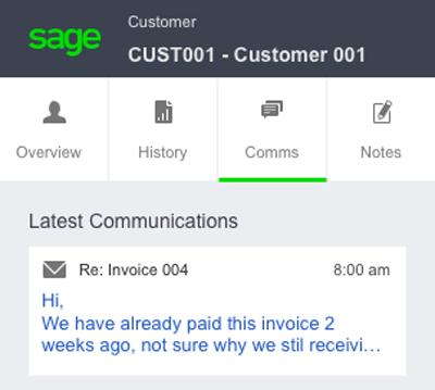 Sage Contact screenshot image