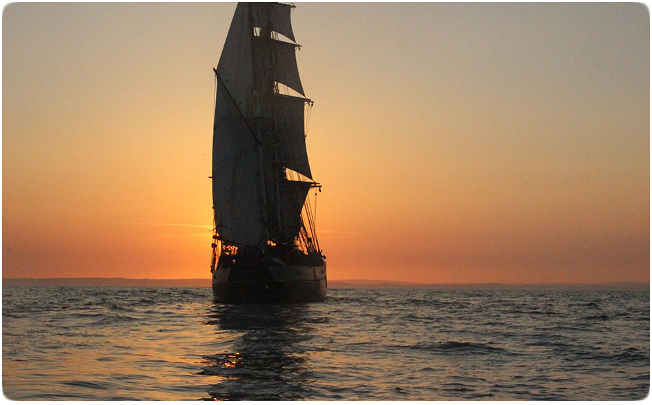 Tres Hombres at Sunset