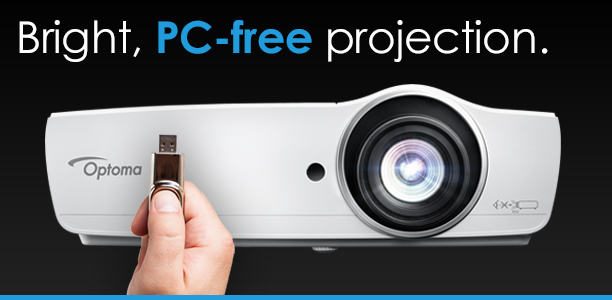 Bright, PC-free projection from Optoma