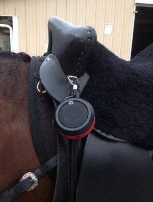 Altec Bluetooth Speaker on a Saddle