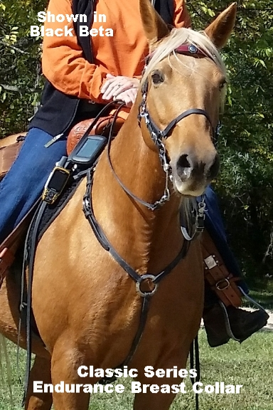 Endurance Style Breast Collar in BioThane Beta Caramel Brown with Martingale Plate - Unlined