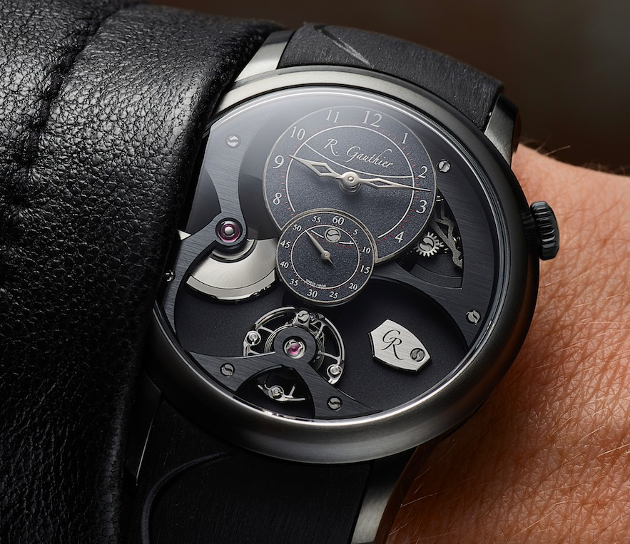 Insight Micro-Rotor Black Titanium with hand-frosted, oven-fired black enamel dial