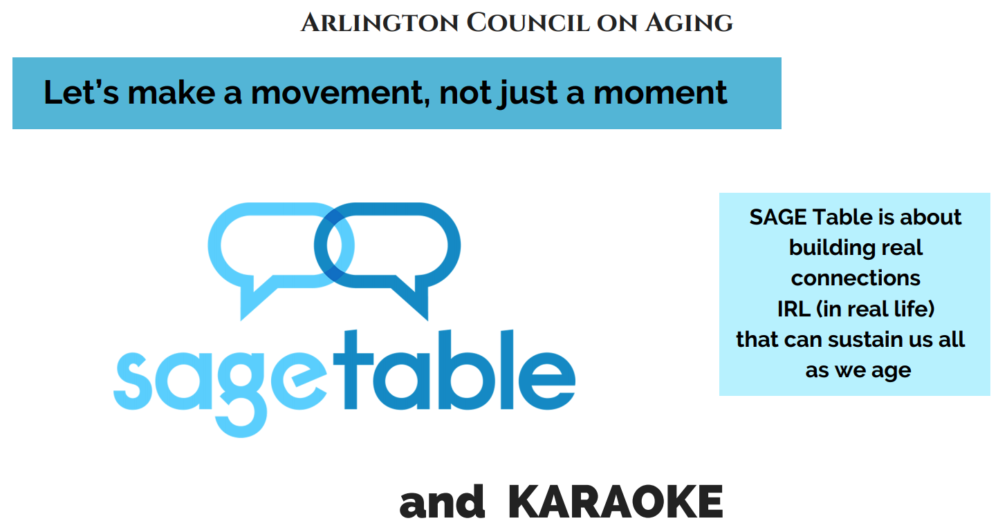 SAGE Table is about building real connections IRL (in real life) that can sustain us all as we age.