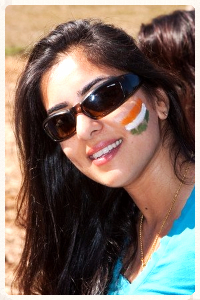 Me, with the Indian Flag on my cheek.