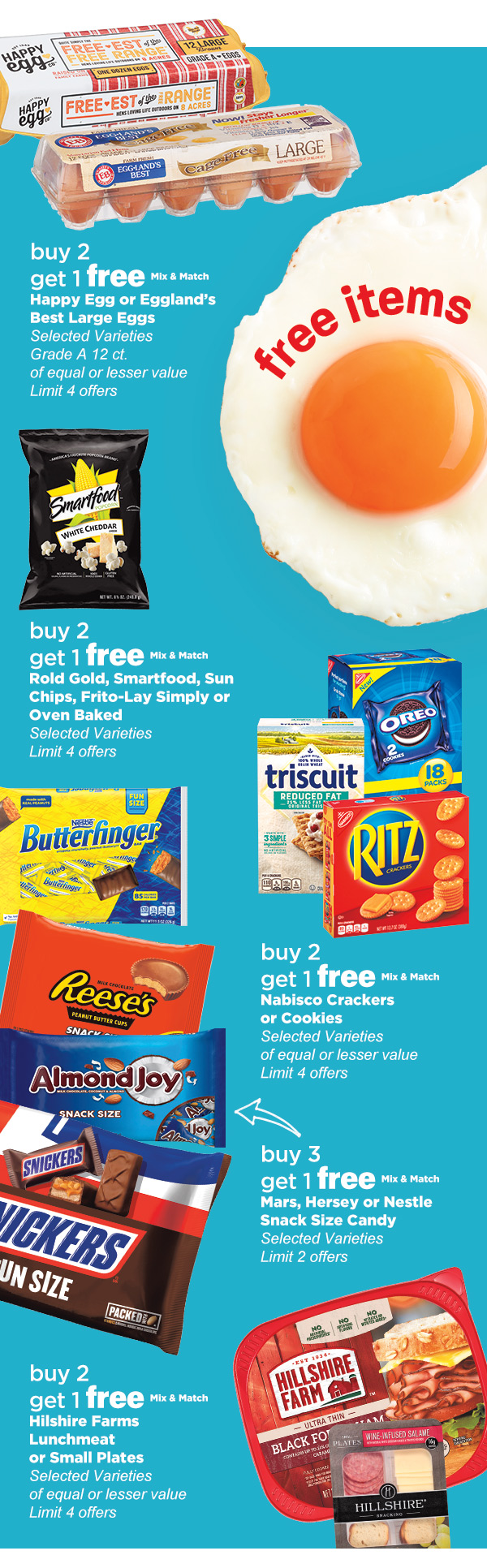 Buy 2 Get 1 Free in Weekly Ad