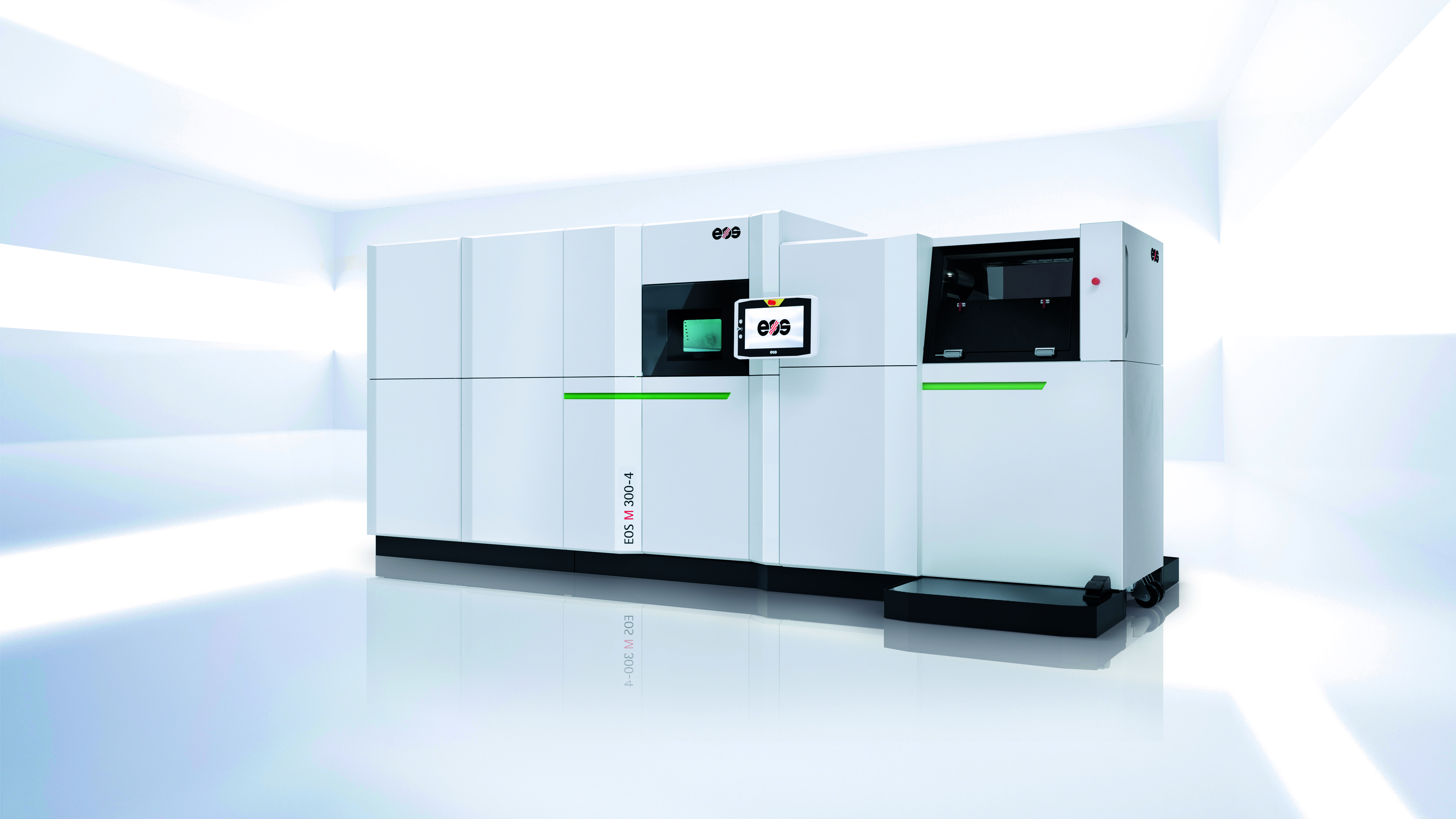 Die neue EOS M 300-4 mit ihren vier Lasern ist das erste Modell einer zukünftigen Baureihe.