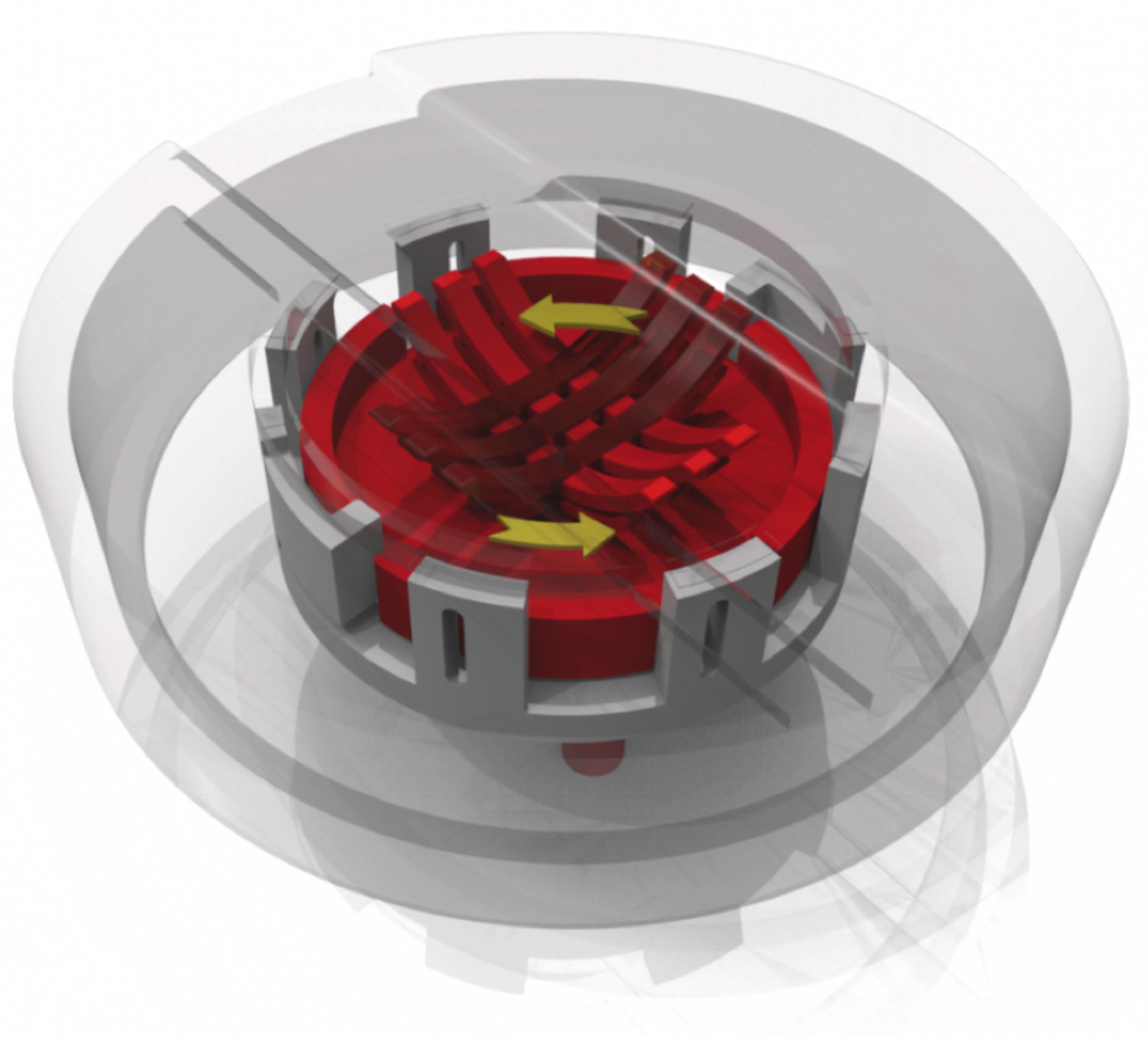 Das additiv gefertigte Bauteil mit integrierten Blattfederpaketen