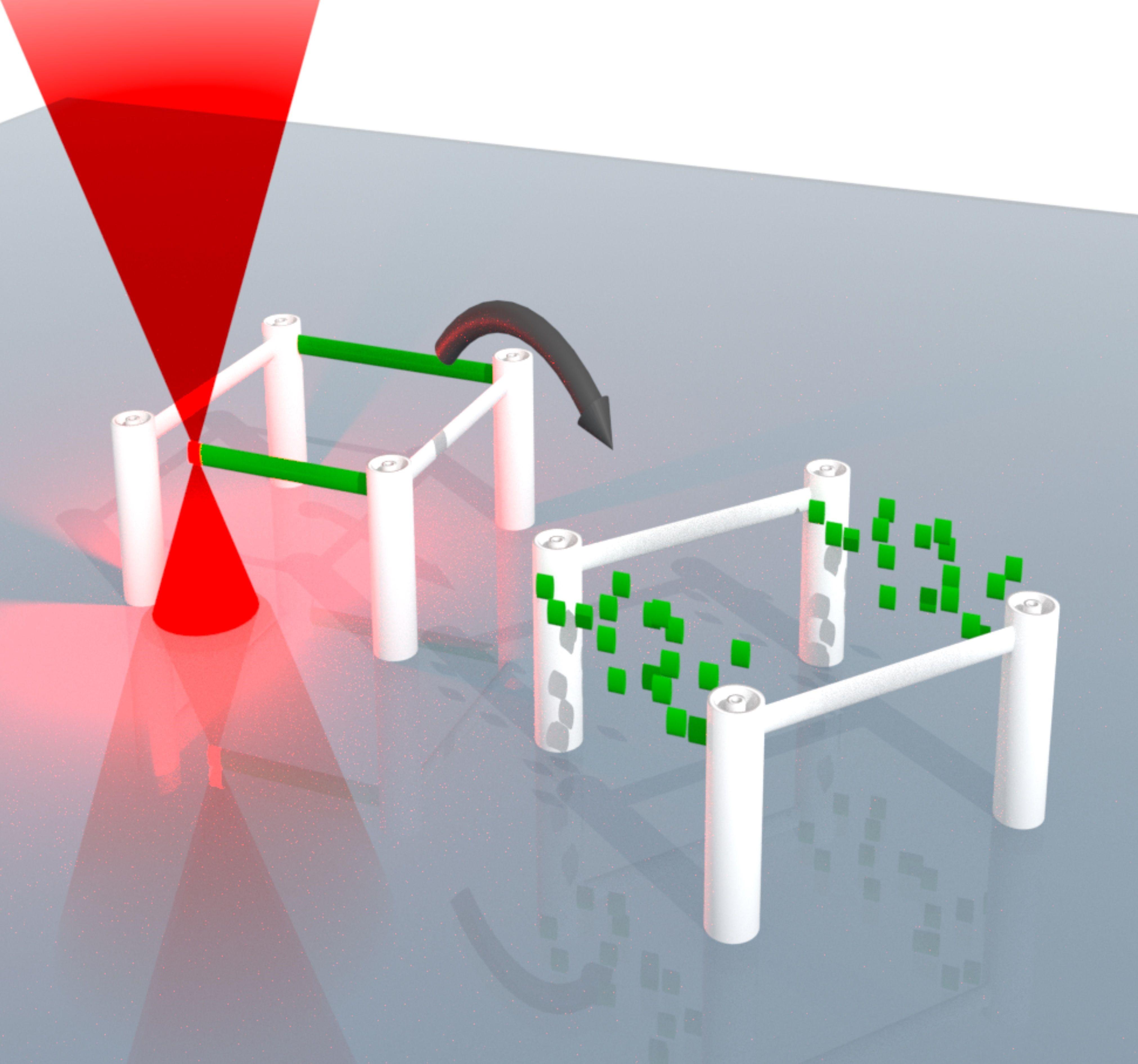 Lasergeschriebene dreidimensionale Mikrostrukturen lassen sich nun schreiben, auf-lösen und neu schreiben
