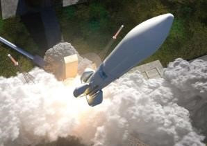 Start der Ariane 6. (Grafik Quelle: ArianeGroup)