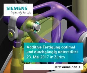 Additive Fertigung optimal unterstützt - 23. Mai 2017 in Zürich
