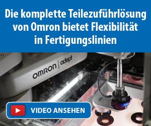 Omron bietet Flexibilität in Fertigungslinien