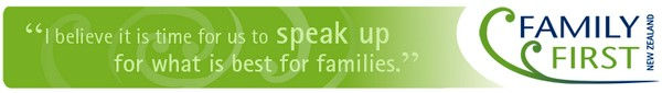 """I believe it is time for us to speak up for what is best for families."" family issue"