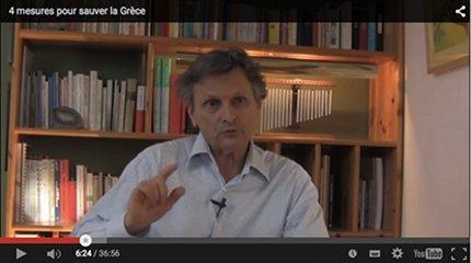 Video youtube - 4 mesures pour sauver la Grèce