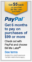 PayPal Financing offer!
