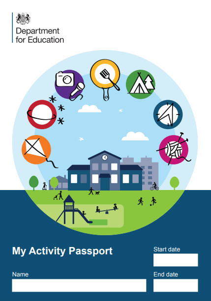 cover shot of the DfE's Activity Passport
