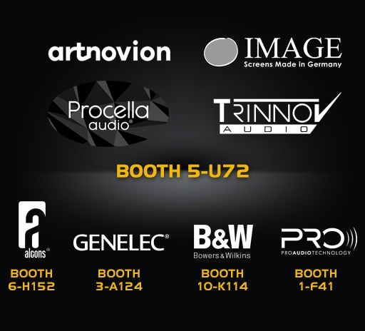 Partners booths where to sea or ear Trinnov Audio products