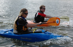 Kayaking at Bray Lake