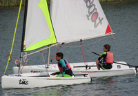 Dinghy sailing at Bray Lake